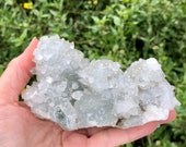 Large Lovely Apophyllite Specimen! Sparkly Apophyllite Large and Small Crystals! Healing Crystals