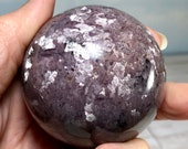 Lovely Rare Sparkly Lepidolite Sphere from Mozambique!  Rare Gem Specimen, Healing Crystal