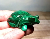 Malachite Frog! 40g Malachite Frog Transformation and Prosperity! Finely Crafted!