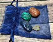 Stone Set for Panic Attacks! Red Aventurine, Malachite and Sodalite with free Hallelujah Crystal! Healing Crystals