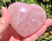 Puffy Rose Quartz Heart! Pink Puff Heart! Unconditional Love! Mineral Display, Healing Crystals, Mothers Day