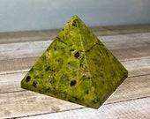 Atlantisite Pyramid! Combination of Stichtite and Serpentine-Atlantisite! 101 gram Tasmanite! Healing Crystals