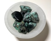 Lovely Emerald Tumbled Stones! Emerald for Love and Heart Healing! May Birthstone!
