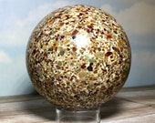 Puddingstone Sphere! XXL Rare Puddingstone Sphere. Collector Stone, Mineral Display. Free Stand!