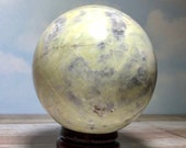 87 mm Picasso Jasper Sphere!Green Gray and White Picasso Stone! Natural Picasso Marble!