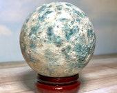 Kyanite Sphere! Natural Blue Kyanite Crystal Ball! 433 grams Blue Kyanite Orb from Califonia! Rare Gem Find