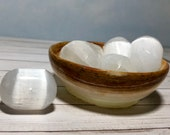 Large Selenite Tumbled Stones! Clear and charge your crystals or Grid your House! Healing Crystals