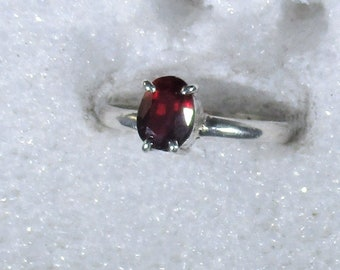 genuine Mozambique ruby gemstone handmade sterling silver solitaire ring size 6