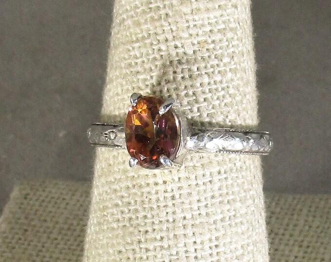 genuine aztoic topaz gemstone handmade sterling silver solitaire statement ring size 7