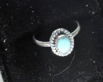 genuine Arizona turquoise handmade sterling silver statement ring size 7 1/4