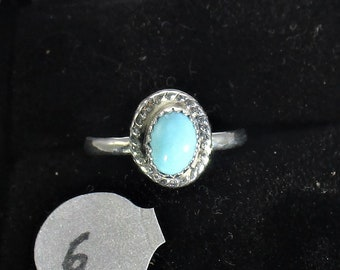 Turquoise handmade sterling silver ring