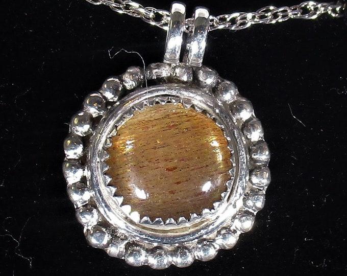 genuine sunstone gemstone handmade sterling silver pendant necklace