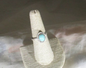 genuine Turquoise handmade sterling silver statement ring  size 8