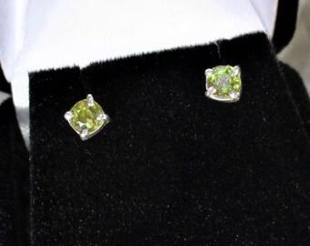 genuine sphene gemstones  handmade sterling silver stud earrings