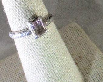 genuine Bolivian ametrine gemstone handmade sterling silver ring size 7