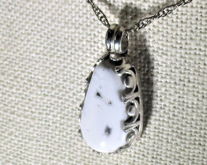 genuine white buffalo turquoise handmade sterling silver pendant necklace