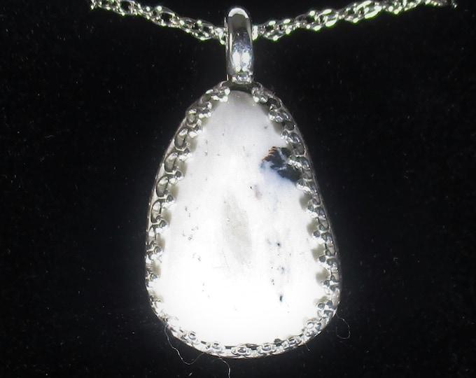 genuine white buffalo turquoise gemstone handmade sterling silver pendant necklace