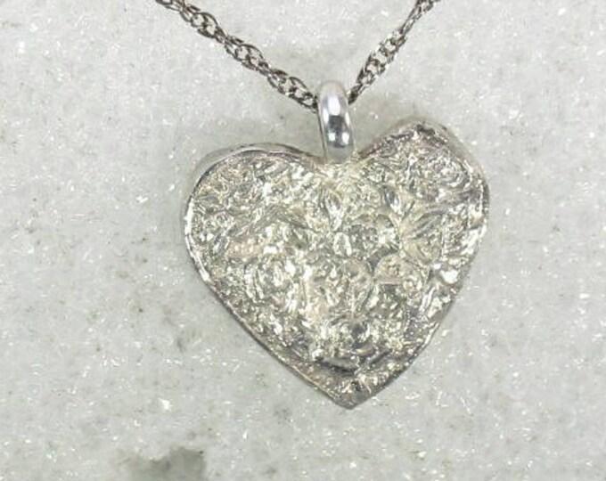 pure silver heart handmade pendant - silver pendant- silver necklace- valentines day present