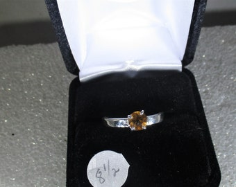 Beautiful Citrine handmade sterling silver ring  free shipping