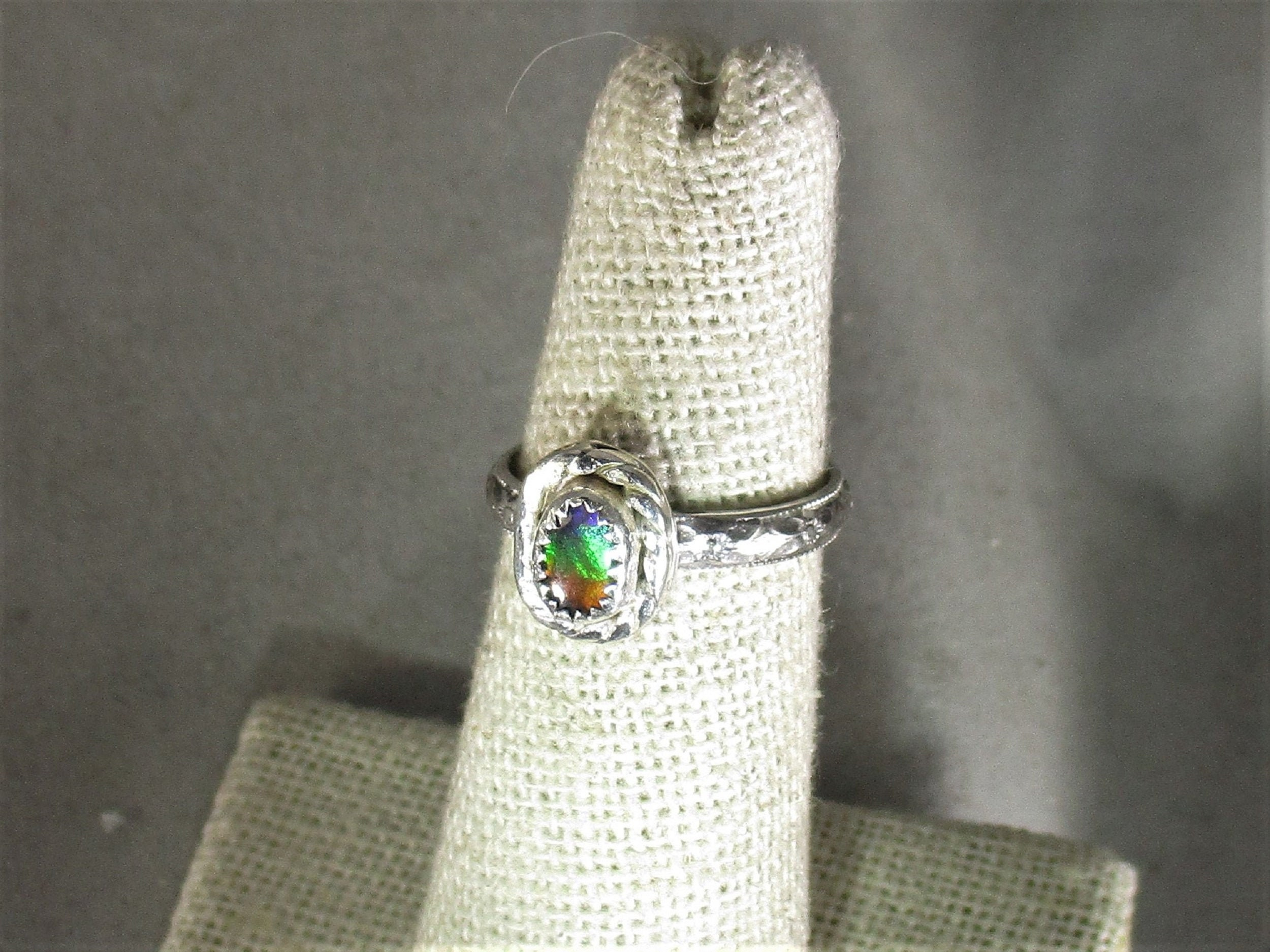 f7da648bb genuine rare three color ammolite triplet handmade sterling silver statement  ring size 5. gallery photo ...