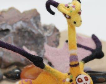 Needle Felted Desktop Dragon Sculpture