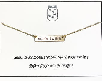 Coordinate Necklace Personalized