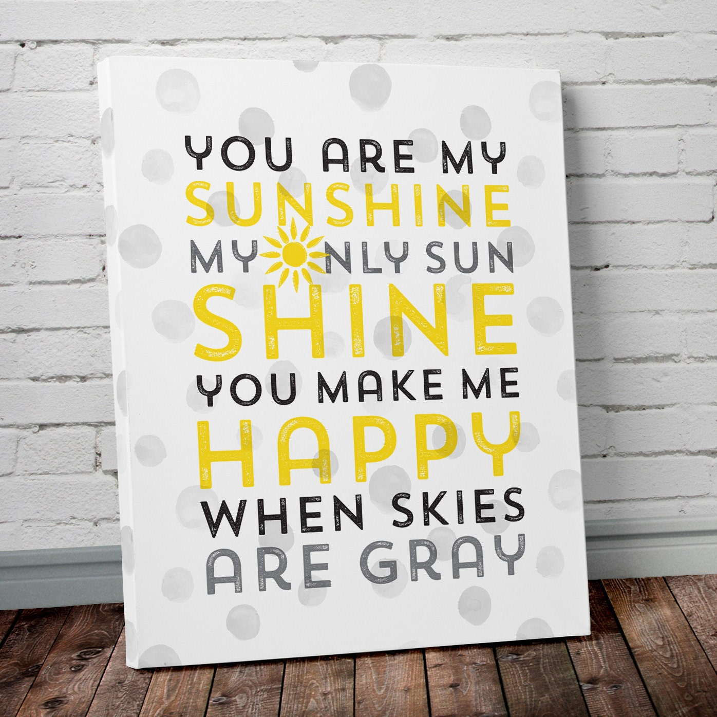 You Are My Sunshine Canvas Print Nursery Wall Art You Are My | Etsy