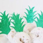 Pineapple Donut Topper-Pineapple Cupcake Toppers-Pineapple Party -Pineapple Decorations-Luau Bridal Shower-Aloha Bridal Shower