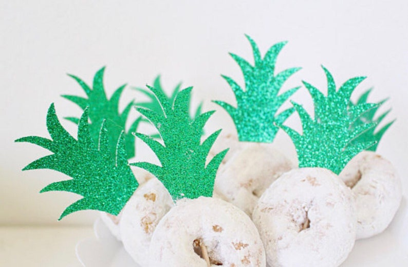 Pineapple Donut Topper Luau Party Decorations Pineapple image 0