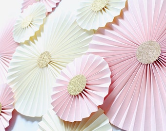 Wedding Backdrop for Reception - Wedding Decorations - Blush wedding Decor - Blush and Gold Wedding Decorations - Wedding Pinwheels