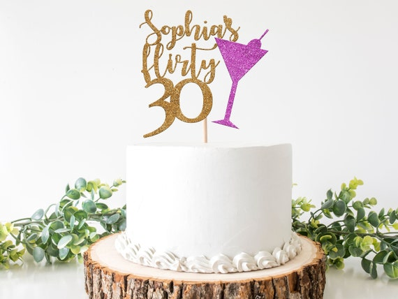 Fabulous 30Th Birthday Decorations For Her Flirty Thirty Cake Topper Etsy Funny Birthday Cards Online Inifodamsfinfo