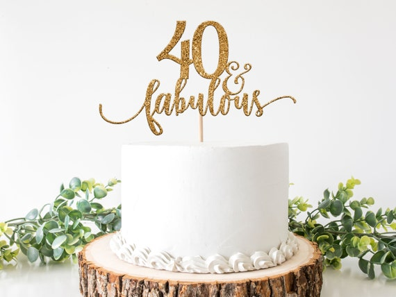 Wondrous 40 And Fabulous Cake Topper 40 And Fabulous 40Th Birthday Personalised Birthday Cards Cominlily Jamesorg