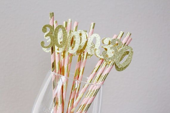 30th Birthday Party Straws
