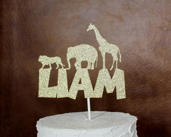 Phenomenal Jungle Safari Cake Topper Safari Birthday Jungle Safari Funny Birthday Cards Online Alyptdamsfinfo