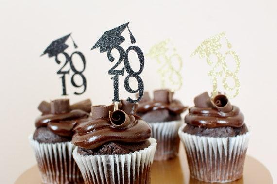 Graduation Cupcake Toppers Graduation Cupcake Picks Graduation Cupcake Decorations 2019 Graduation Cupcakes Class Opf 2019 Graduation