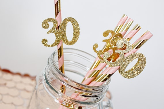 30th Birthday Party Straws 30th Birthday Party Decorations Dirty Thirty Party 30th Birthday For Her Pink And Gold 30th Birthday Decor By Pravda Designs Catch My Party