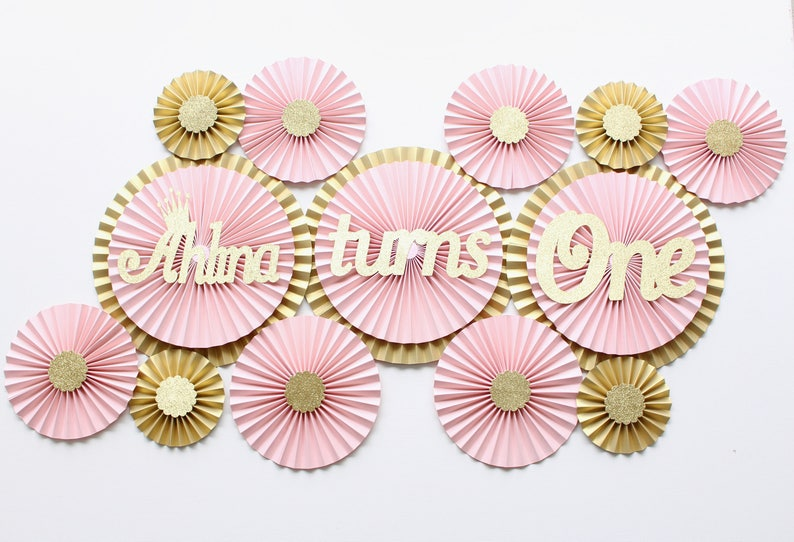 Princess Party Decorations Pink And Gold First Birthday