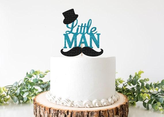 Fantastic Little Man Cake Topper Little Man Baby Shower Little Man Funny Birthday Cards Online Necthendildamsfinfo