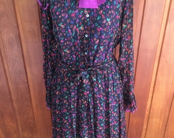 c3ae0b3131679 Zandra Rhodes vintage 70s silk dress