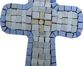 Souvenir Cross Accent Motif Marble Mosaic IN727