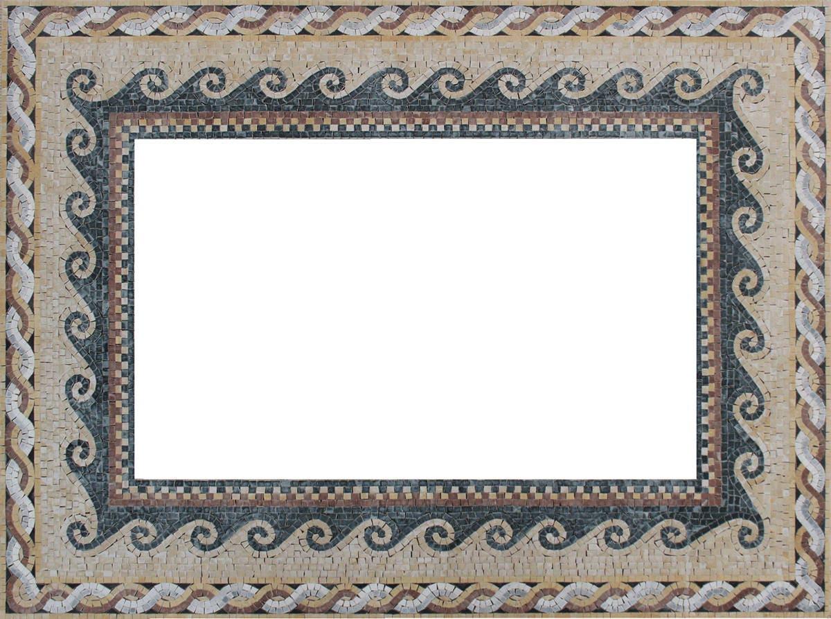 Rechteck Spiegel Rahmen Boden Grenze Umriss Marmor Mosaik | Etsy