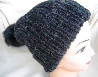 EL BURRO Bobble Beanie Hat Bobble knitted Beanie