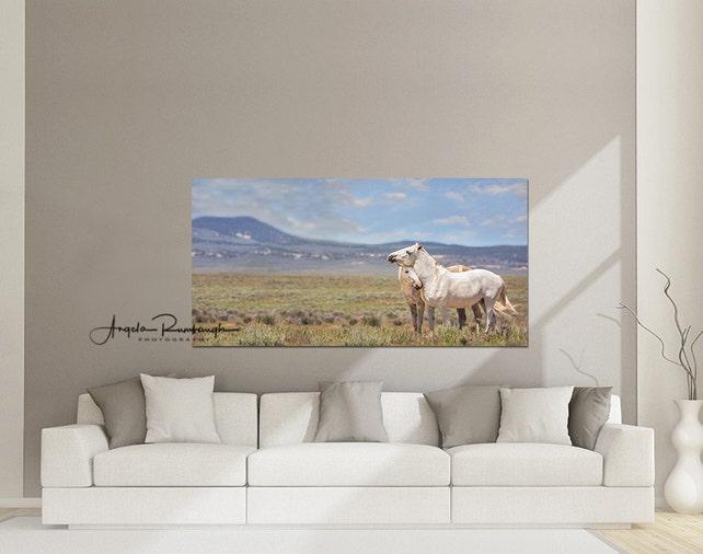 Wild Horse Canvas Horse Art Equine Art Living Room Decor | Etsy