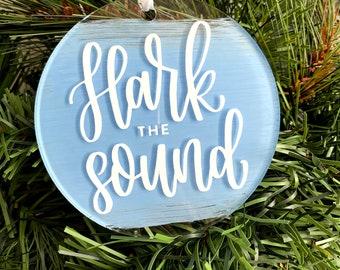 Chapel Hill / Hark the Sound UNC Christmas Ornament | Tar Heels Ornament | FREE SHIPPING