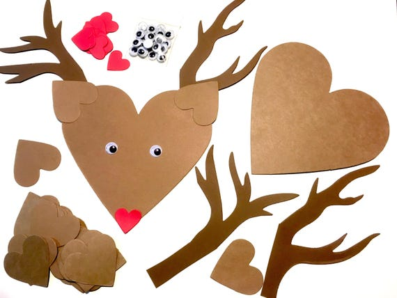 12 Rudolph Reindeer Paper Crafts For Children Quick Craft For Etsy