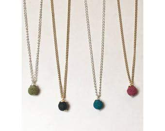 New! Dainty Lava diffuser necklace