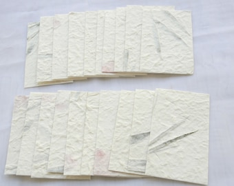 Pressed flower paper etsy 20x dried pressed leave or flower handmade mulbery paper gift tags scrapbook card 4 14 x 2 58 yhp001 mightylinksfo