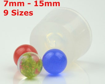 Transparent MOLD, Clear Silicone MOLD, sphere,ball, Jewellery DIY, Resin Jewellery,  8mm,9mm,10mm,11,mm,12mm,13mm,14mm, 15mm, #BM001