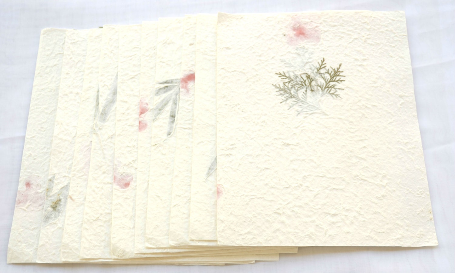 10x Dried Pressed Leave Or Flower Handmade Mulbery Paper Etsy