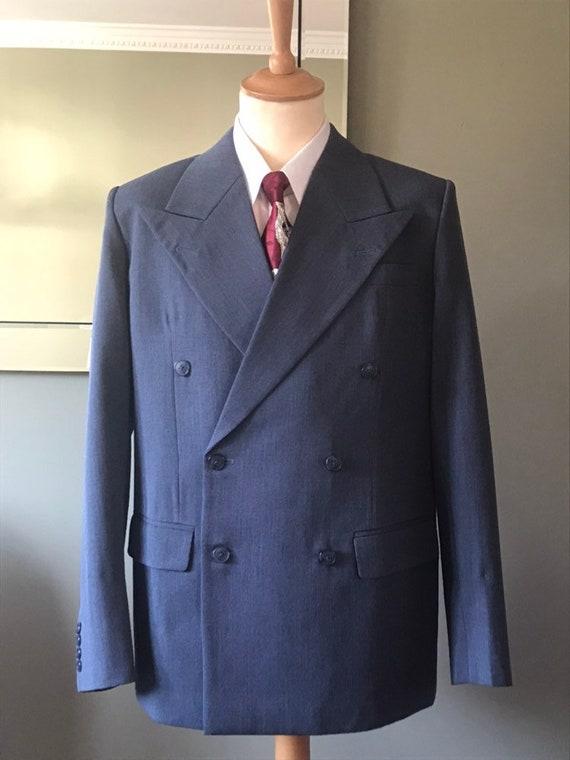 1940s Men's Suit History and Styling Tips 1940s reproduction CC41 suit $396.62 AT vintagedancer.com